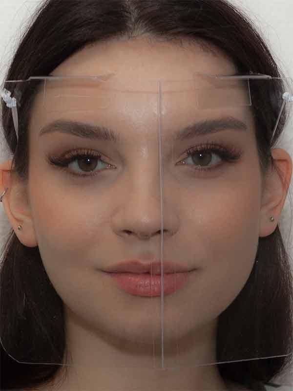 Gesichtsschutz faltbar